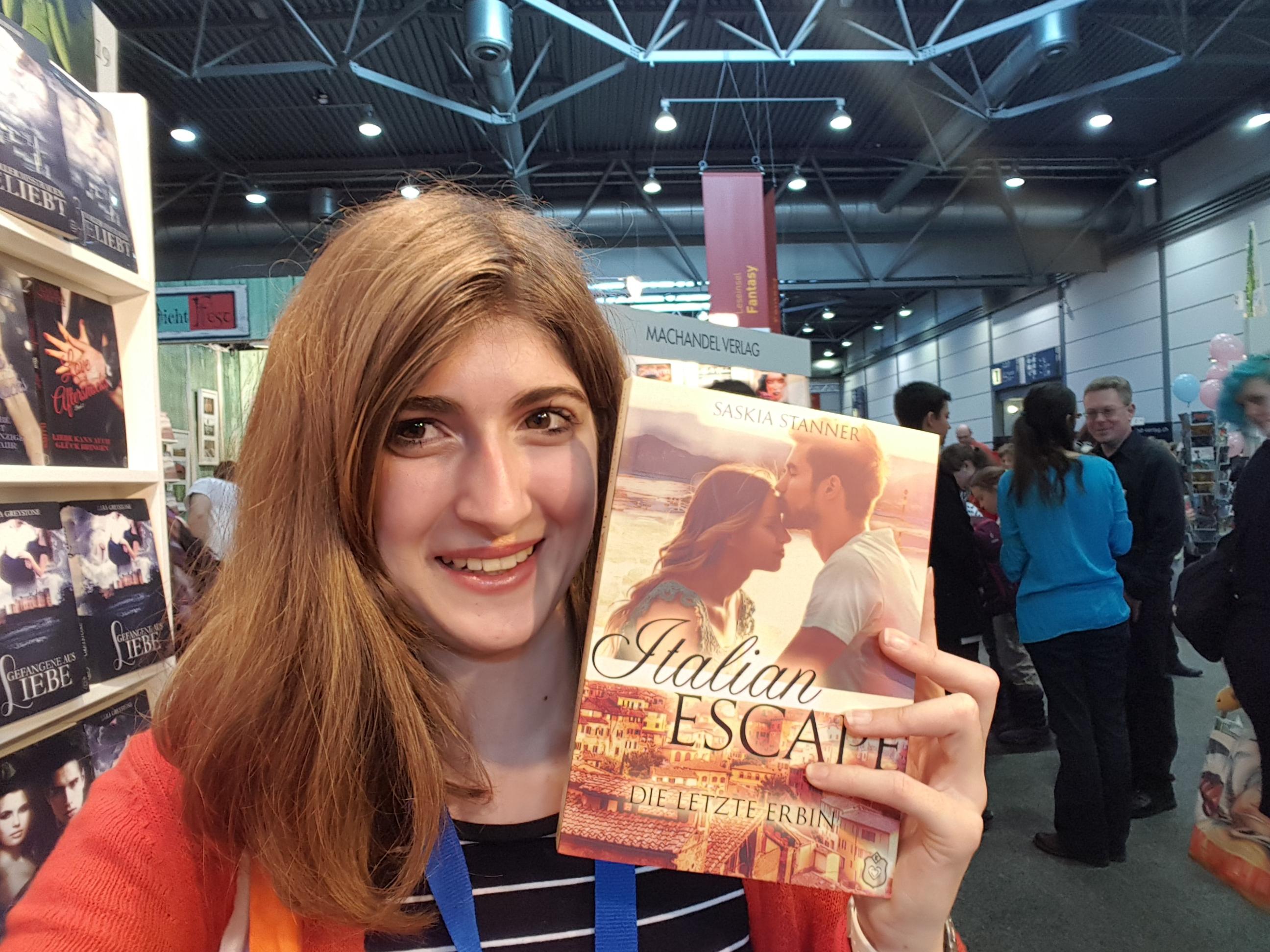Saskia mit Italian Escape auf der Leipziger Buchmesse