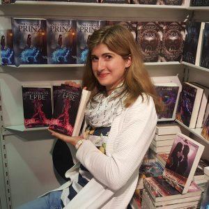 Saskia Stanner mit Entflammtes Erbe auf der Frankfurter Buchmesse